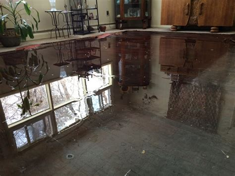 tech water damage restoration service basement flood