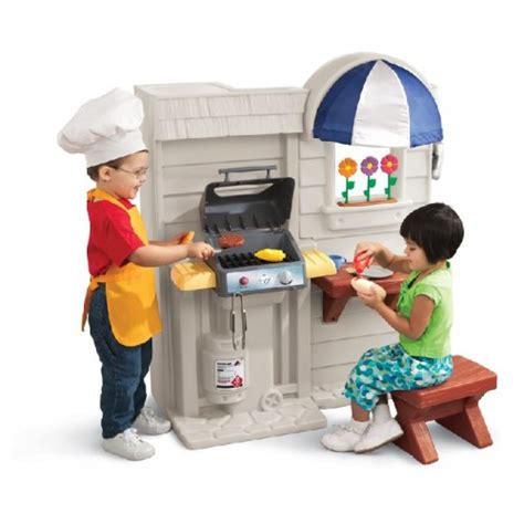 tikes inside outside cook n grill kitchen play