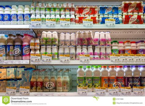 Bibit Yoghurt Di Supermarket selection of yogurts soy milk and milk on the shelves in a supermarket siam paragon in bangkok
