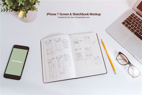sketchbook iphone free sketchbook iphone 7 mockup psd