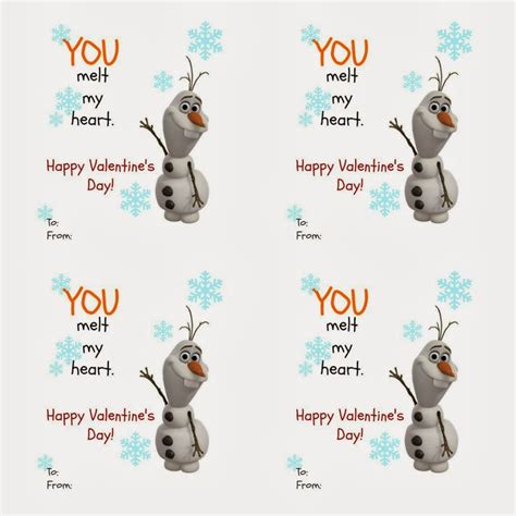 olaf printable valentines day cards 36 best images about valentines on pinterest valentine