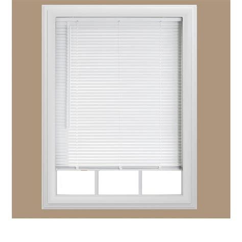 Mini Blinds bali cut to size white cordless 1 in room darkening vinyl mini blind 22 in w x 48 in l