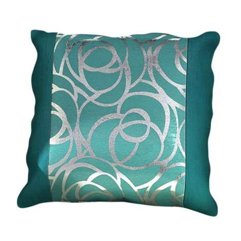 teal curtains and cushions skye cushion cover teal silver 45cm x 45cm tonys textiles