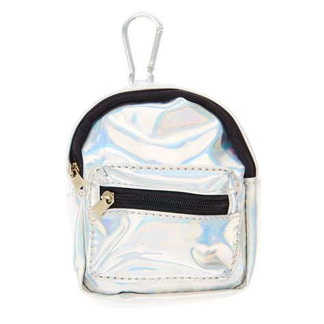 Hologram Coin Purse silver holographic mini backpack purse keychain s us