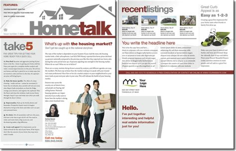 realtor newsletter templates hometalk newsletter template issue 0