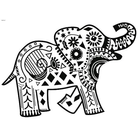 elephant henna tattoo design