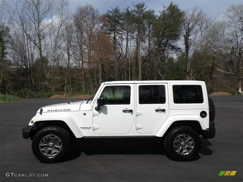 white jeep rubicon 2017 bright white jeep wrangler unlimited rubicon 4x4