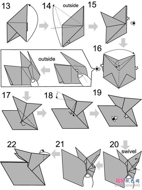 How To Fold A Paper Rabbit - best 20 rabbit origami ideas on origami