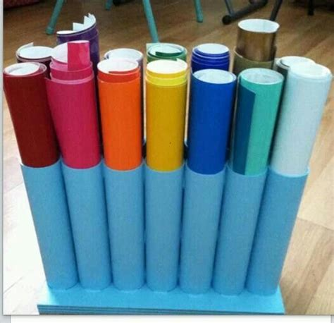 Polos 12 Pvc Pvc Pipe Glued To A Of Wood To Store Vinyl Rolls