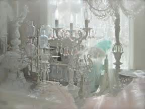 shabby french chic beaded candelabra table l pink crystal prism antique white ebay