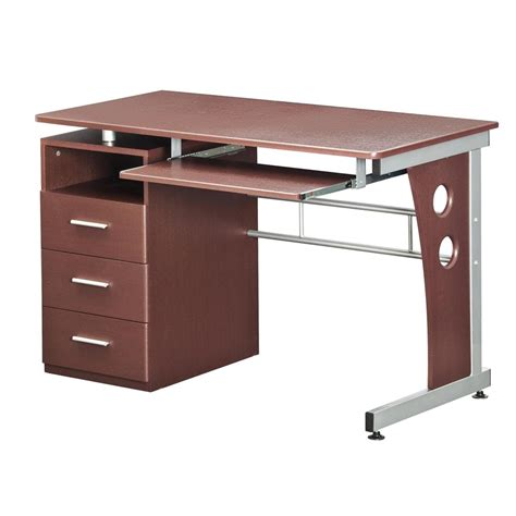 techni mobili storage computer desk techni mobili computer desk with le storage color