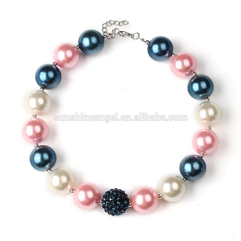 bead necklaces cheap wholesale chunky bubblegum beaded necklace jewellery