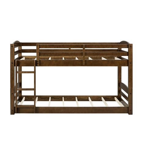 wood twin loft bed dorel living noma twin mocha wood bunk bed frame fh7891