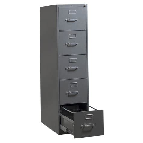 Hon 5 Used Letter Vertical File Gray National