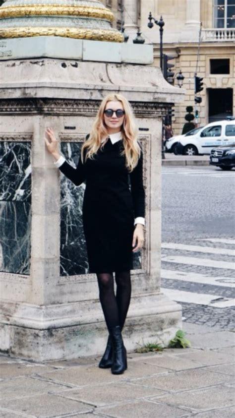 Dress Ton a bon ton dress in black fashion tights
