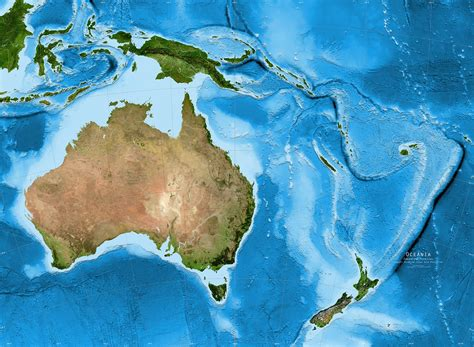 australia satellite map australia oceania satellite image giclee print