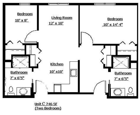 2 Bedroom Apartment Design Layouts 2 Bedroom Apartment Layout Grace Lodge Assisited Living