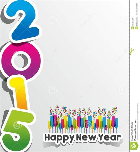 happy new year 2015 greeting card stock images image