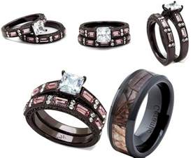 camo wedding rings sets with real diamonds pink camouflage wedding ring sets caymancode