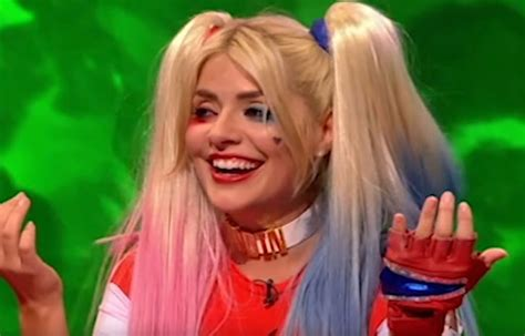 celebrity juice line up holly willoughby as suicide squad s harley quinn on