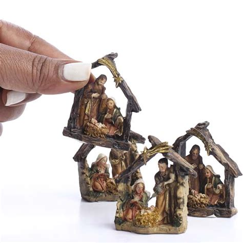 small nativity figures miniature nativity miniatures and winter crafts