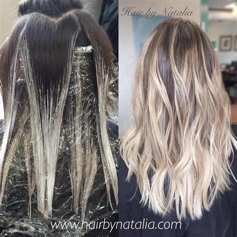 how to balayage ashy blonde balayage rooted blonde balayage in denver www hairbynatalia com