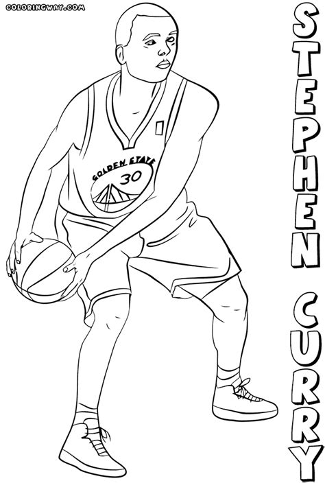 free printable coloring pages nba players stephen curry free colouring pages