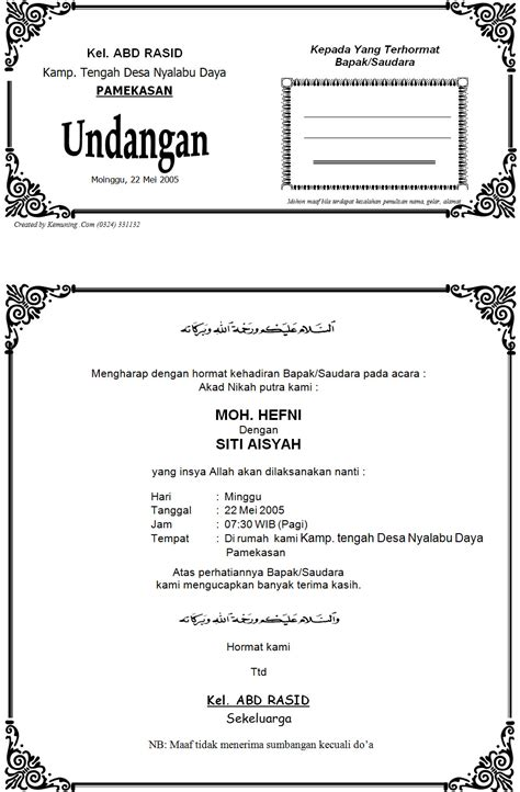 template label undangan pernikahan word template undangan di ms word contoh laporan bulanan proyek