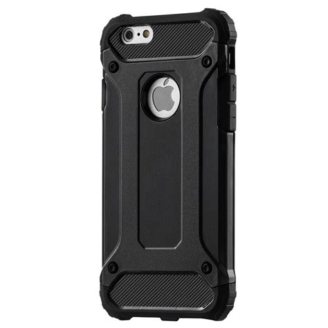 Rugged Armor Hybrid Iphone 6 hybrid armor tough rugged cover for iphone 6s 6 black