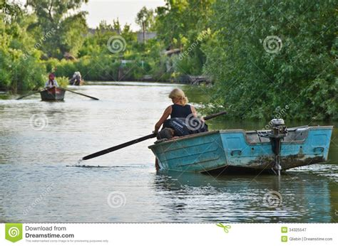 boat building ukraine vilkovo ukraine may 19 danube delta editorial