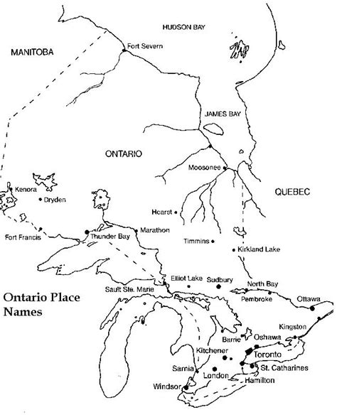 printable map directions ontario printable map