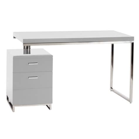 white contemporary desks white lacquer contemporary studio desk
