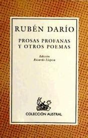 libro prosas profanas y otros prosas profanas y otros poemas agapea libros urgentes
