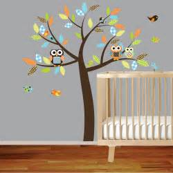 Owl Nursery Wall Stickers Vinyl Wall Decal Vinyl Wall Decal Stickers Owl Tree Set