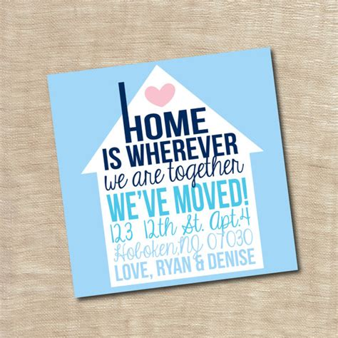 Housewarming Gift Card Template by Housewarming Invitation New Home We Moved Announcement