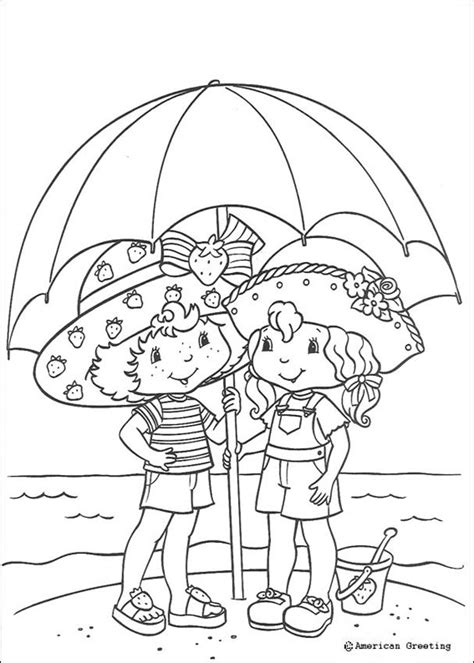 transmissionpress strawberry shortcake coloring pages