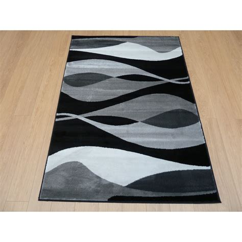 black sincerity modern contour rug carpet runners uk