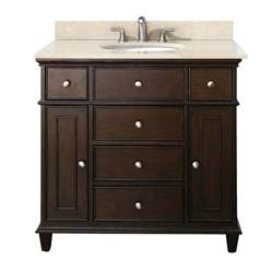 Menards Kitchen Faucets 37 Inch Single Bathroom Vanity In Walnut With A Choice Of