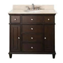 bathromm vanities 37 inch single bathroom vanity in walnut with a choice of