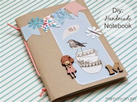 How To Make Handmade Notebooks - c 243 mo hacer una libreta casera how to make a handmade
