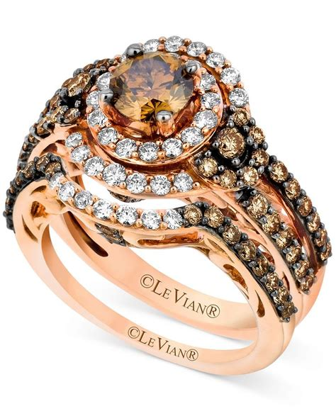 le vian 14k strawberry gold 174 bridal set chocolate