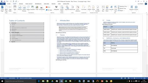 bill of materials template ms word excel