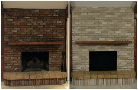Painting Brick Fireplace Before And After by Painted Brick Fireplaces Before And After