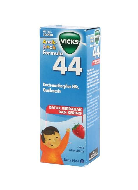 Vicks Formula 44 Syrup 54ml vicks obat batuk formula 44 anak strawberry btl 54ml