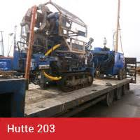 hutte 203 piling rig rigs and specification piling contractors colets piling