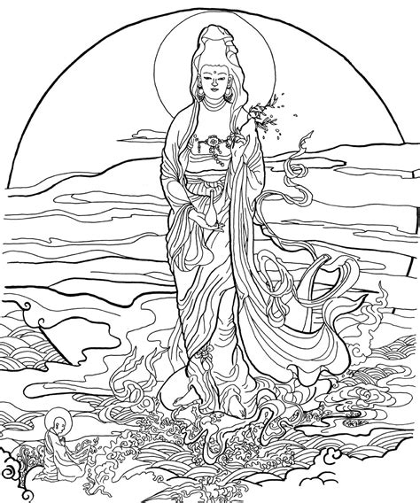 buddhist coloring pages az coloring pages