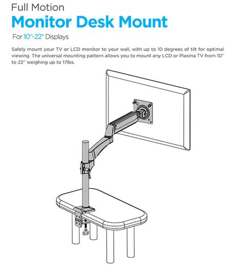 ematic 13 to 27 monitor desk mount 楽天市場 モニターマウント テレビマウント デスク用 27インチまで対応 ematic 13 quot to 27