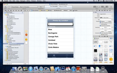 xcode osx layout mac os x lion 10 7 xcode 4 1 for lion is free on the app