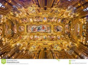 French House Design Paris Opera Garnier Royalty Free Stock Photography