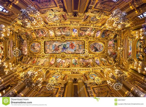 Ceiling Decoration by Paris Opera Garnier Stock Image Image Of France